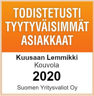 Kuusaan Lemmikillä on Todistetusti tyytyväisimmät asiakkaat (Suomen Yritysvaliot Oy:n tutkimus)