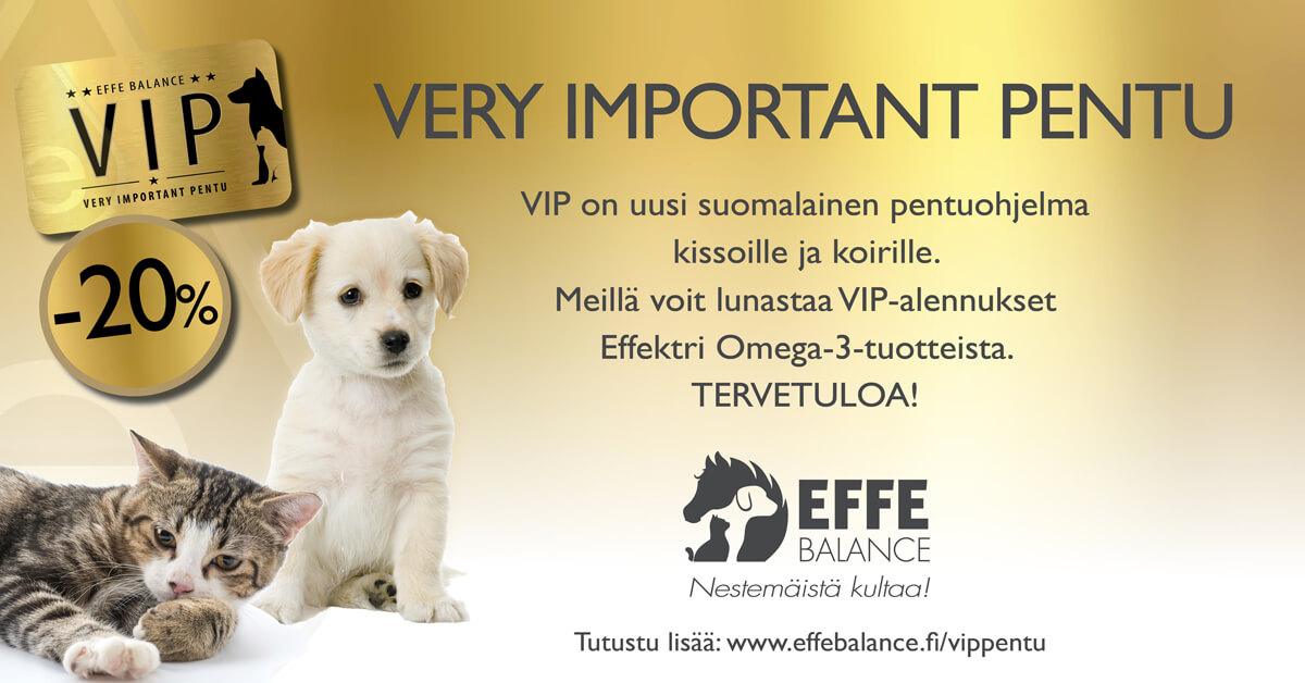 VIP pentu Effe Balance omega-tuotteet